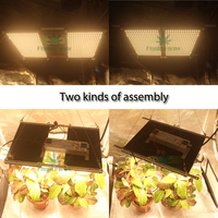 Samsung LM301H/LM301B regulable 240w cuántica Placa de LED led crecer luz 3000K 3500K mezcla 660nm UV IR con conductor Meanwell