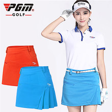 PGM Brand Womens Golf Short Solid Color Skirt Dress Shorts Pants Kilt Golf Clothing Quick Dry Skirts Sportswear 3 Colors 5 Sizes(China)