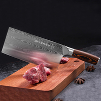 Deng knife High-grade handmade forged blade carbon steel kitchen knife Chinese chef knife vegetable cleaver kitchen Colour wood 1