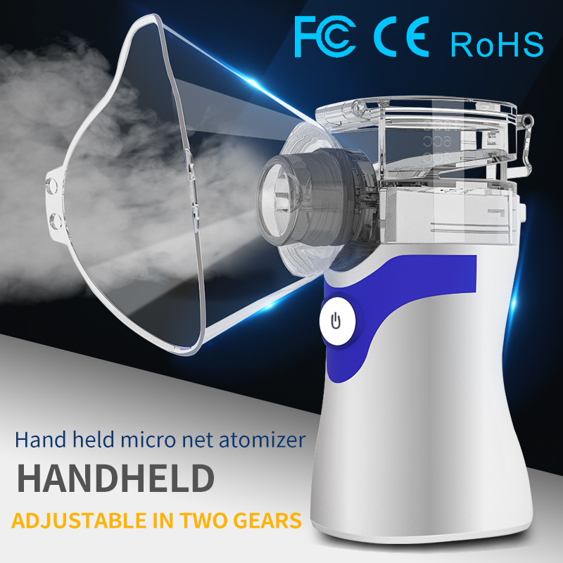 Health Care Mini Portable Hand-Held Children's Adult Compression Silent Nebulizer Ce FCC RoHS Nebulizador Automizer
