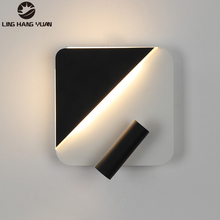 Modern Sconce Led Wall Light Black&White 10W Wall Lamp Lighting Fixtures For Living room Bedroom Dining room Kitchen Study room