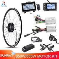 Kunray-Kit de conversión de bicicleta eléctrica, Motor de engranaje de rueda trasera, sin escobillas, 36V, 350W, 500W, 48V, 16-29 pulgadas, 700C