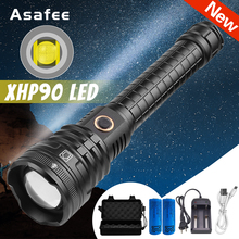XHP90 Tactical Light Powerful Zoom Tactical Led Flashlight XHP90 Police led Torch Flash Light Recharge 18650 hunting Lanterna