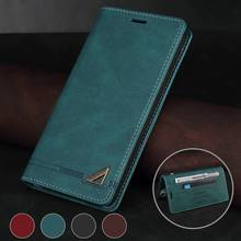 Leather Phone Case For Samsung Galaxy S21 S20 Ultra S10 S9 S8 Plus Note 8 9 10 20 Pro Ultra Wallet Flip Case Coque Funda