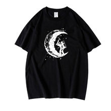 2021 New Moonworker Print T-shirt For Men Women 100% Cotton Cool Street Style Tops Loose Casual Fashion Lovers Tshirt