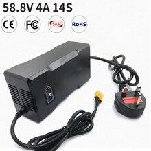 58,8 V 4A 14S CE по ограничению на использование опасных материалов в производстве литий Батарея Зарядное устройство для 14S 48V (51,8 V 52V) литий-ионные ...
