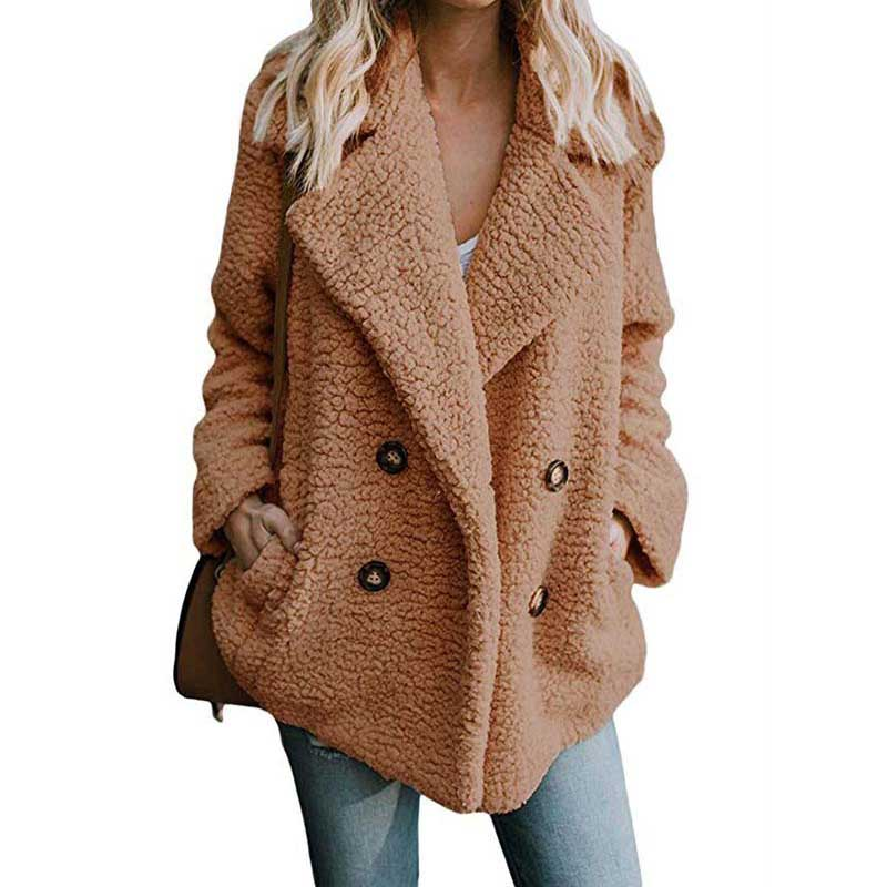 2020 Winter Faux Fur Coat Women Autumn Oversized Outerwear Female Overcoat Thick Warm Ladies Teddy Bear Coat Winter Coats