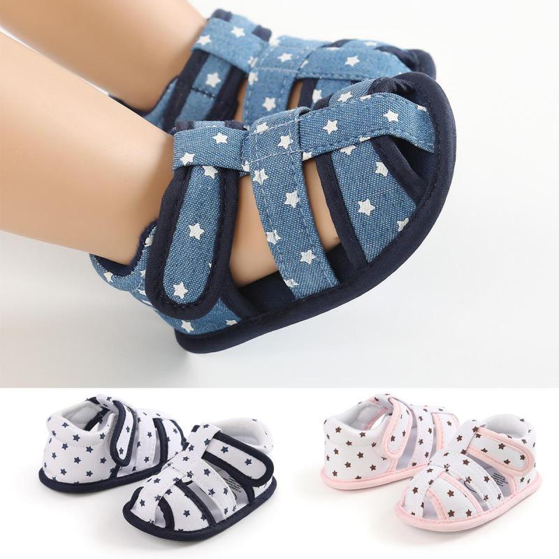 Newborn Baby Girls Boys Anchor Infants Summer Crib Sole Shoes Prewalker Baby Shoes First Walkers Boy