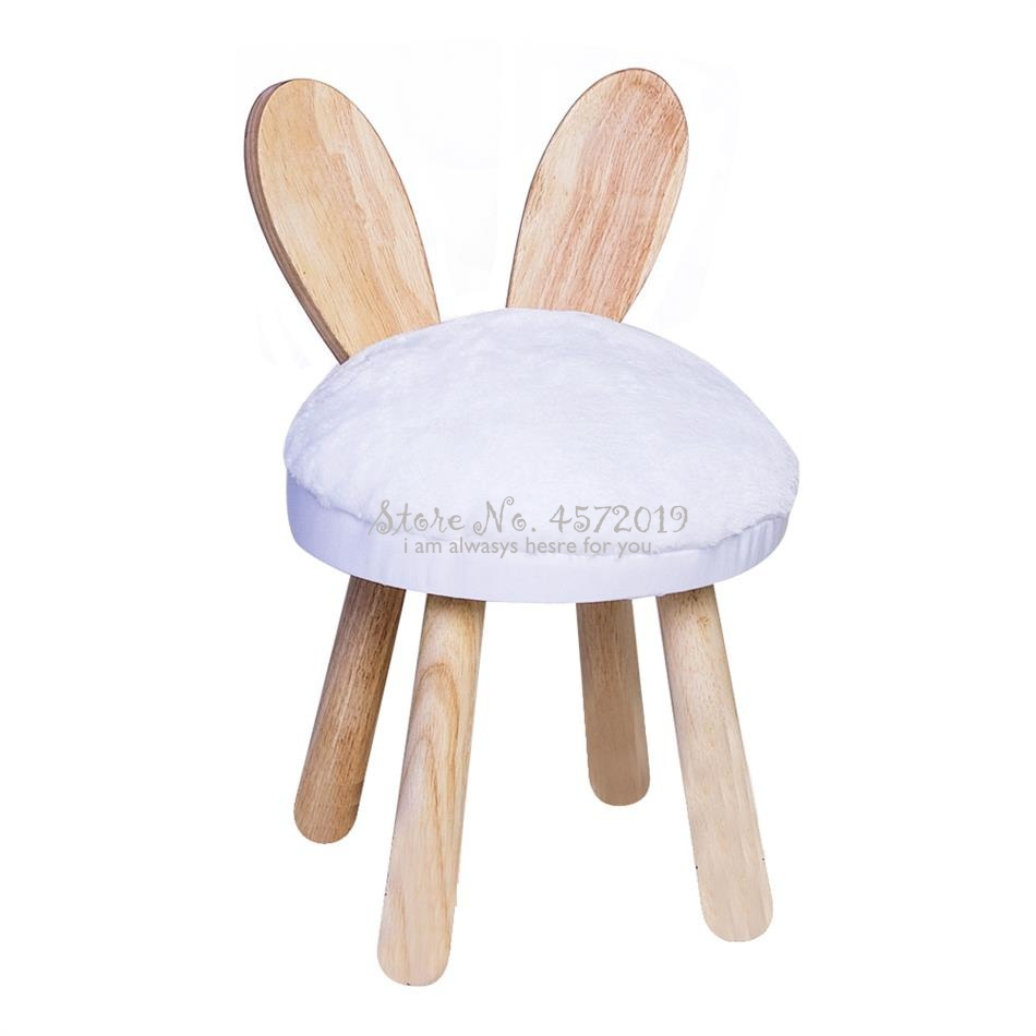 Nordic Solid Wood Children's Stool Sofa Stool Deer Stool Animal Back Cartoon Creative Baby Chair Shoes Bench Stool