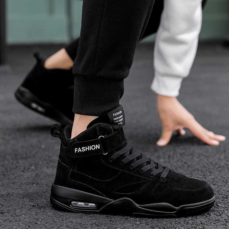 أحذية رياضية الرجال عالية الجودة وسادة هوائية أحذية تزلج تنفس ارتداء حذاء فاخر