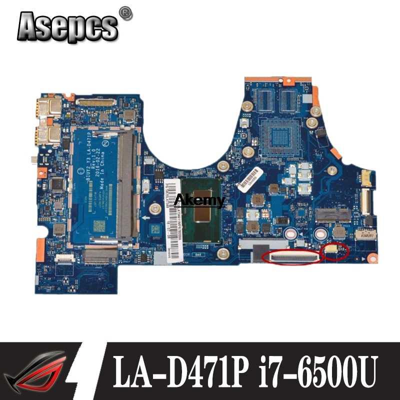 Freies verschiffen Hohe qualität FRU: 5B20L47333 für Lenovo 710-15ISK Laptop Motherboard BIUY2_Y3 LA-D471P SR2EZ I7-6500U DDR4 Getestet