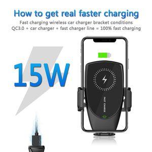 Image 2 - Suntaiho 15W Qi Drahtlose Auto Ladegerät Automatische Spann für iPhone 11 ProMax Samsung S10 S9 Note10 8 Air Vent montieren Telefon Halter