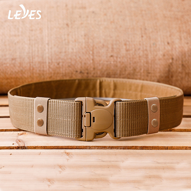 Military Tactical Belt Survival Training High Quality Plastic Buckle For Men Belts Nylon Canvas Hunting Army Combat Wide Webbing