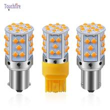 20PCS 1156 P21W PY21W BAU15S 7440 W21W LED Canbus Car Bulb 2400Lm Turn Signal Amber Light 3030 35smd Indicator Auto Lamp 12V