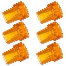 6 шт древесины костыль наконечник резиновый коврик с нескользящей подошвой и двойным трость коврик аксессуар в виде трости оранжевый