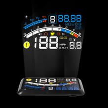 Pantalla frontal F4 HUD para coche, proyector con velocímetro Digital automático, pantalla frontal hacia arriba, OBD2, Ordenador de viaje para coche
