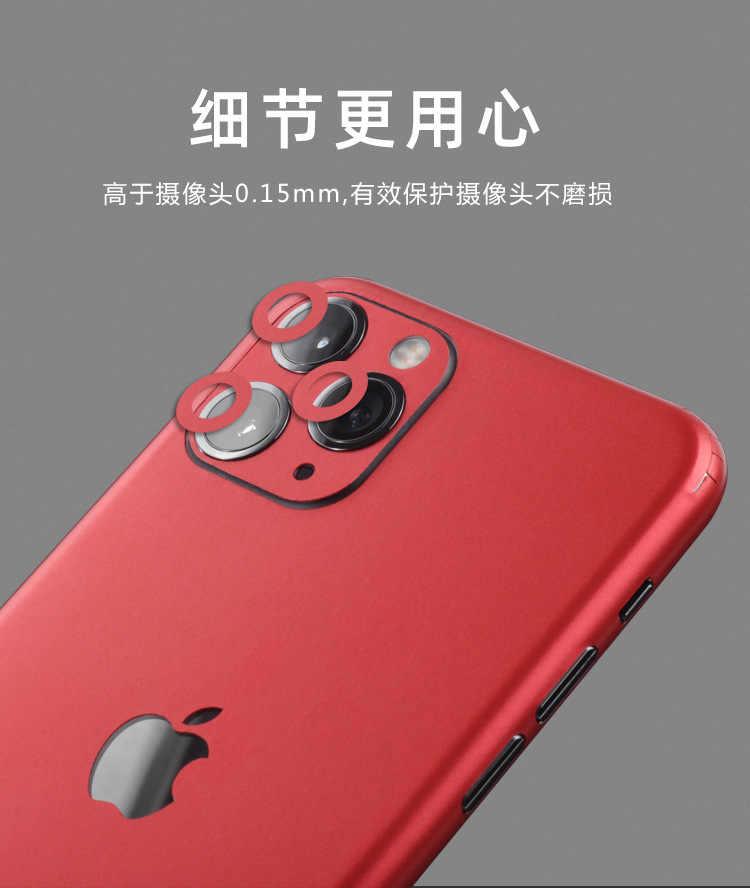 Dành Cho iPhone 7 8 X XS XR 11Pro Max Lại Bộ Phim Mỏng Bảo Vệ Màn Hình Dán Bảo Vệ Bao Màu Paster Phía Sau trang Trí Bộ Phim