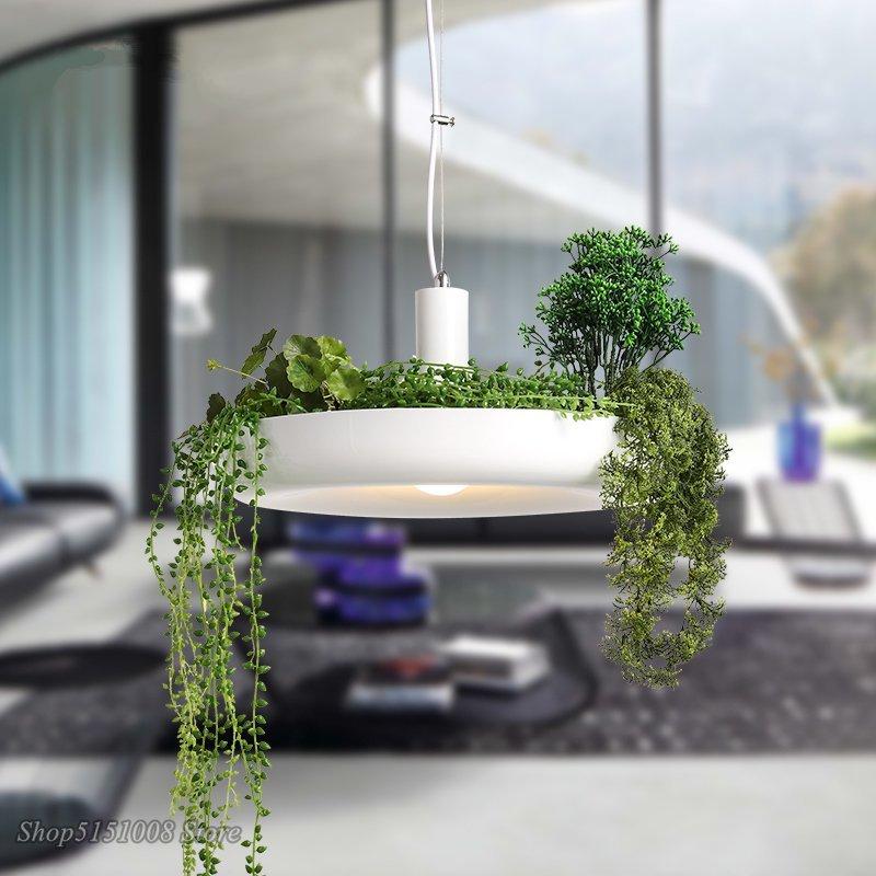 Nordique plante pendentif lumières bricolage ciel LED de jardin lampe Pot de fleur suspension lampe salle à manger Restaurant luminaires décor à la maison - 2
