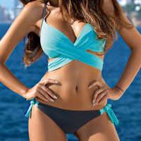 Bikini 2019 push-up rembourré soutien-gorge maillot de bain maillot de bain push up natation costume pour femmes deux pièces costumes bikinis femmes #30