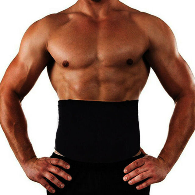 Men´s Healthy Slimming Body Abdomen Shaper Belt Black Underwear Burn Fat Sweat