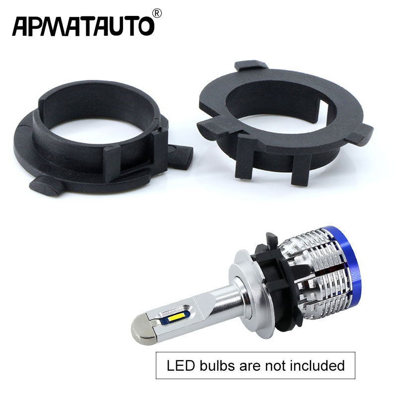2pcs LED H7 Bulb Holder Adapter for Hyundai Veloster i30 H7 LED headlight headlamp H7 base adapter for KIA K4 K5 Sorento CEED|Base| |  - title=