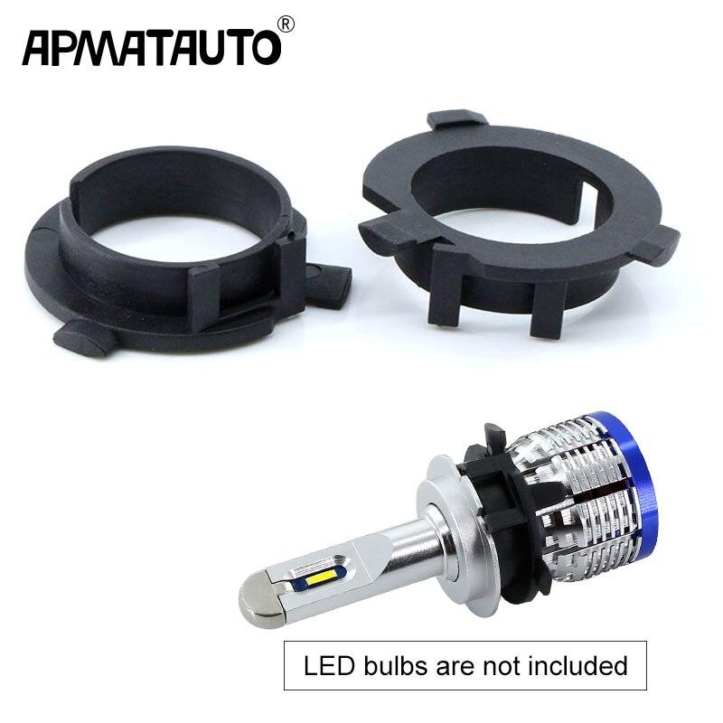 2pcs LED H7 Bulb Holder Adapter for Hyundai Veloster i30 H7 LED headlight headlamp H7 base adapter for KIA K4 K5 Sorento CEED