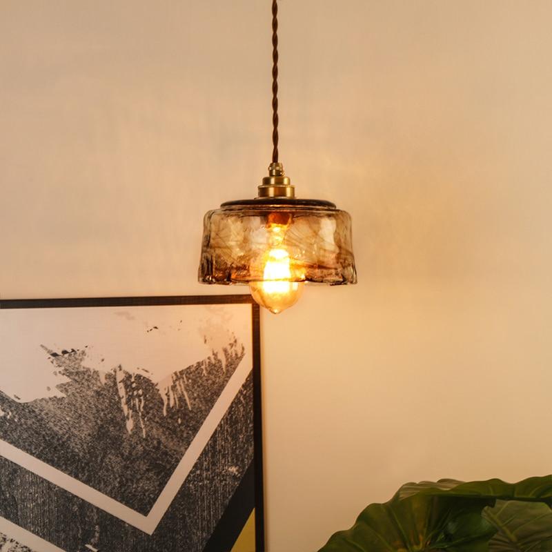 Modern Nordic Copper Pendant Lights Lamp Glass Pendant Lighting Living Room Kitchen Bedroom Bar Dining Room Loft Hanging Lamp