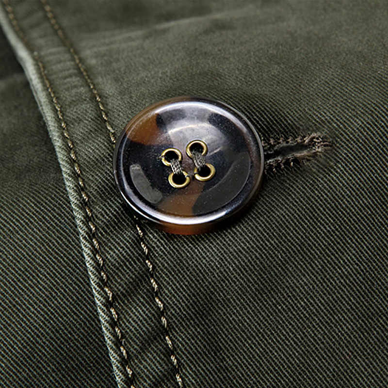 Shenrun Uomini Casual Giacca Giacca Militare 100% Cotone di Autunno della Molla Vestiti Giubbotti Khaki Nero Army Verde Giacche Singolo Petto