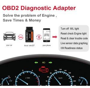 Image 3 - Mini ELM327 Bluetooth OBD2 v1.5 ELM 327 with PIC18F25K80 Chip OBD2 Adapter Elm 327 OBDII Auto Diagnostic Tool OBD2 Scanner