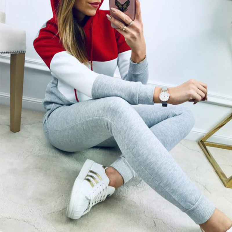 2019 Autumn Hot Selling Two-Piece Set Europe And America Tops And Pants Joint Casual Sports WOMEN'S Suit