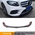 Передний бампер для губ Mercedes-Benz E Class W213 4 двери Спорт E43 AMG 2016-2019 передний бампер для губ разветвители углеродного волокна