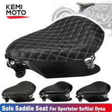 5 stytle 3 inch Motorcycle Seat Leather Sportster XL883 1200 Driver Seat Spring Bracket Kit For Softail Custom For Honda все цены