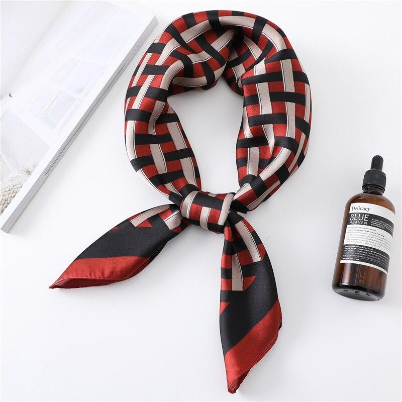 2020 роскошный женский Шелковый квадратный шарф, обертывания на шею, женские шарфы для волос, повязка на голову, клетчатый платок с принтом, шали, бандана|Женские шарфы|   | АлиЭкспресс