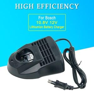 Image 1 - Max12V 10.8V AL1115CV wymienna ładowarka dla Bosch akumulator litowy BAT411 BAT412A BAT413A 2 607 336 996 US/ue wtyczka