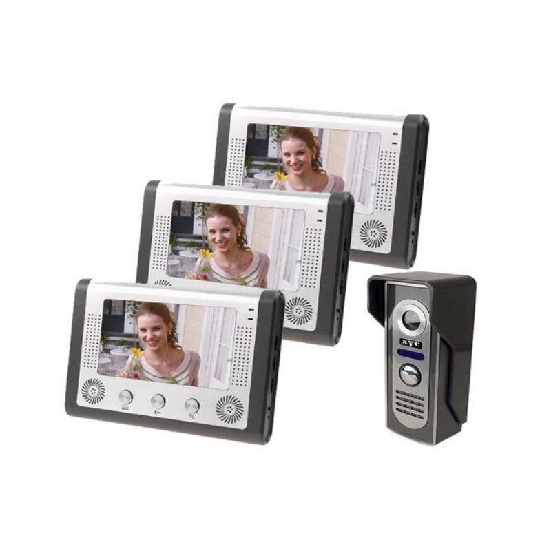 Yobang Security 3 Monitor Kits Home Intercom Video Door Phone 7