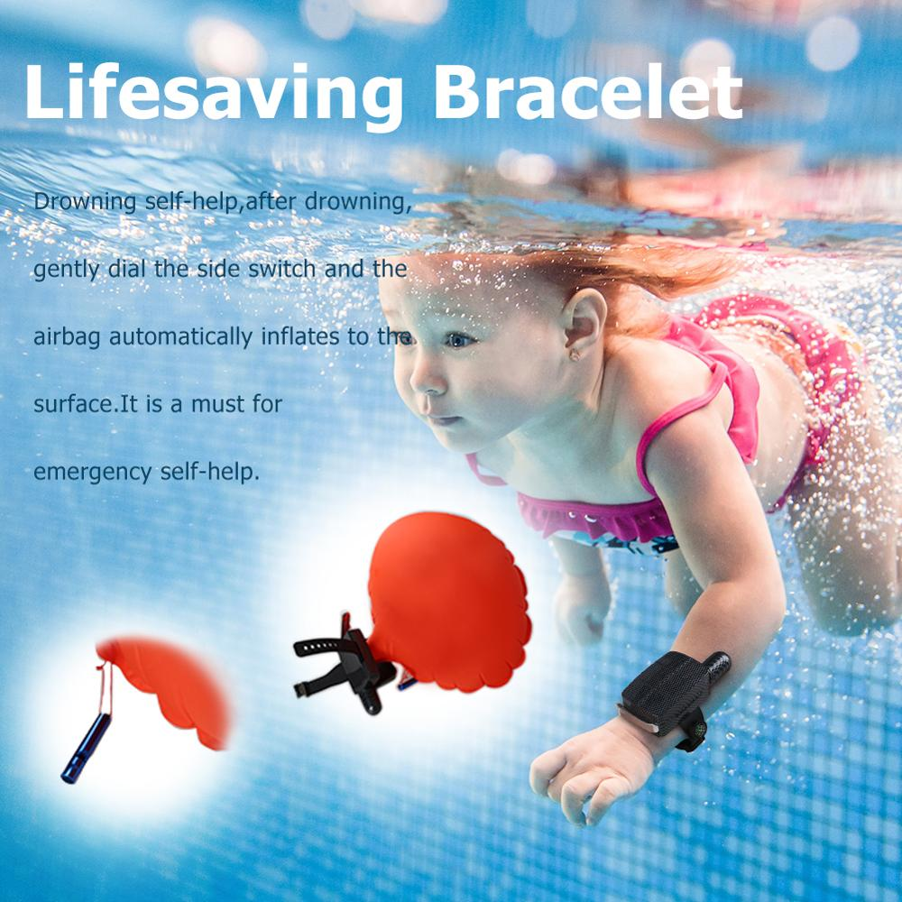 Anti-Drowning Lifesaving Bracelet Rescue Device Floating Wristband Wearable Swimming Device Water Aid Lifesaver For Water Sports