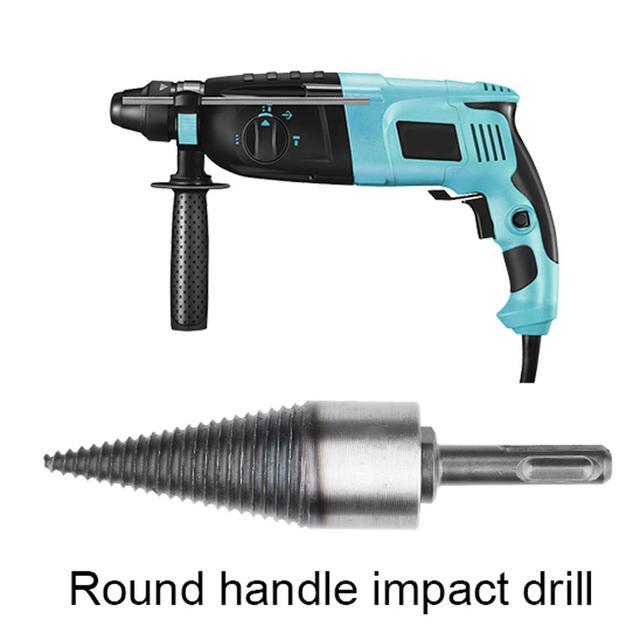 Máquina separadora de leña de 32mm- 50mm, taladro, cono de madera, taladro, herramientas de perforación dividida, herramienta para romper madera