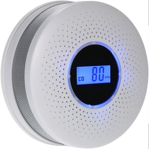 Комбинированный Детектор угарного газа и дыма, работающий от батареи, со сигнализацией, светодиодный светильник, мигающий Предупреждение