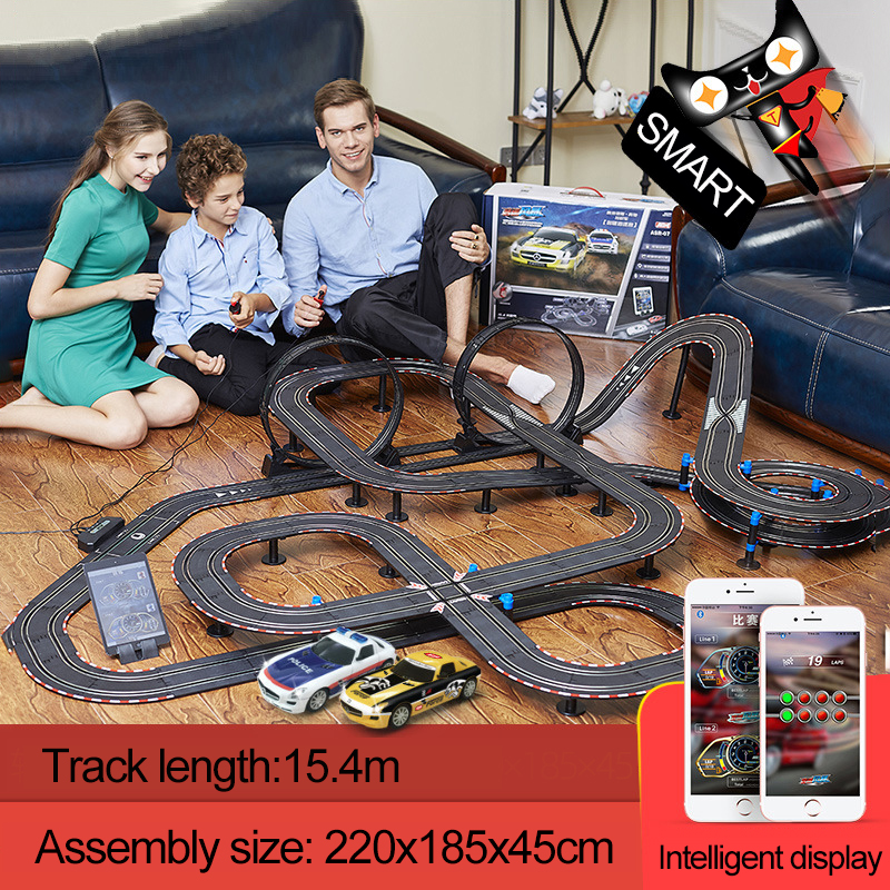 1:43 Electric Track Racing Car Toy Profissional Autorama Circuit Voiture Slot Car Bluetooth Control Double Racing Track Toys