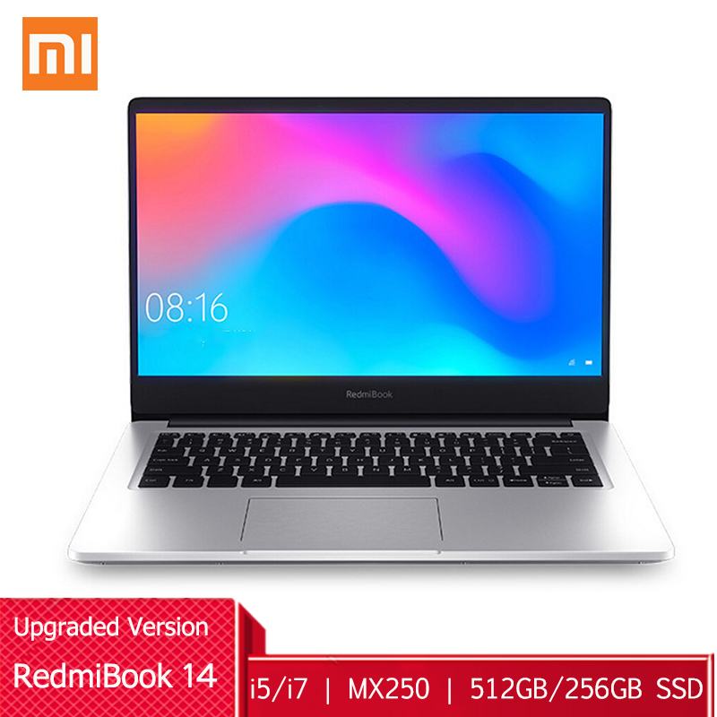 Xiaomi RedmiBook 14 Laptop Upgraded Windows 10 Intel Core I5-10210U/ I7-10510U MX250 8GB RAM 512GB/256GB SSD 1920x1080 Notebook