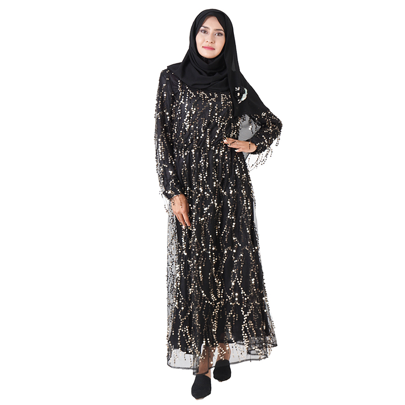 Sequin Tassel Abaya Muslim Hijab Dress Caftan Dubai Abayas For Women Turkish Dresses Kaftan Oman Islamic Clothes Tesettur Elbise