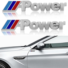 Наклейка на боковое крыло автомобиля, наклейка с эмблемой для BMW M Performance Power X1 X3 X5 X6 E84 E83 F25 M3 E90 E91 E60 F15 F16 E70, 2 шт.