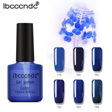 1X 10ml Série Azul Escuro UV Gel Nail Polish Long-Lasting Soak-off LEVOU Gel Laca Verniz top Coat Base de Projeto Da Arte do prego Manicure(China)