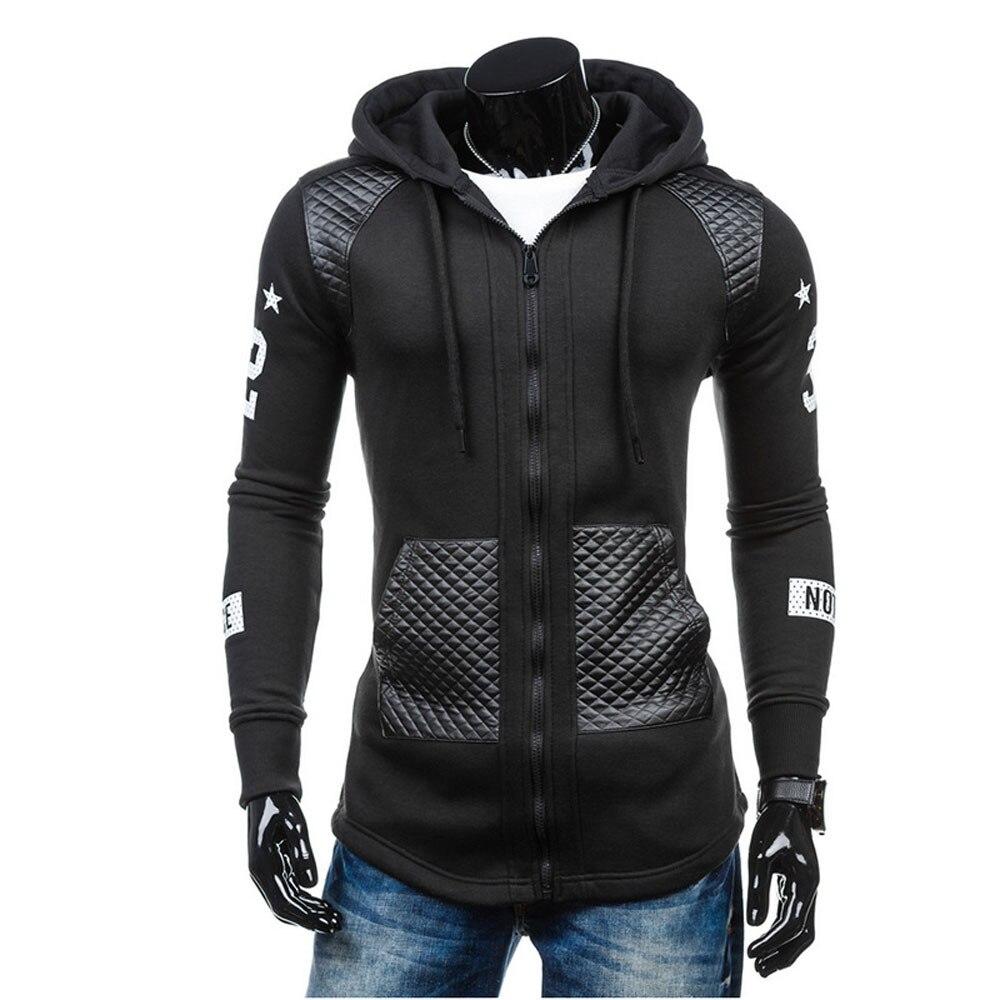 2020 Новая модная куртка весна и осень размера плюс пальто с запахом Мужская зимняя теплая толстовка с капюшоном Пальто Куртка Верхняя одежда пуловер|Толстовки и свитшоты|   | АлиЭкспресс
