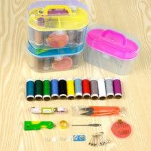 10 Piece Set Sewing Box Household Portable Scissors Thimble Threader Mini Tool Thread Multi-function Kit E