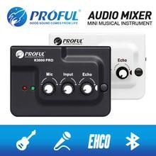 Interface de mixage Audio d'écho de carte de son de diffusion en direct K3000 externe avec Bluetooth pour l'enregistrement d'instrument de musique de Microphone