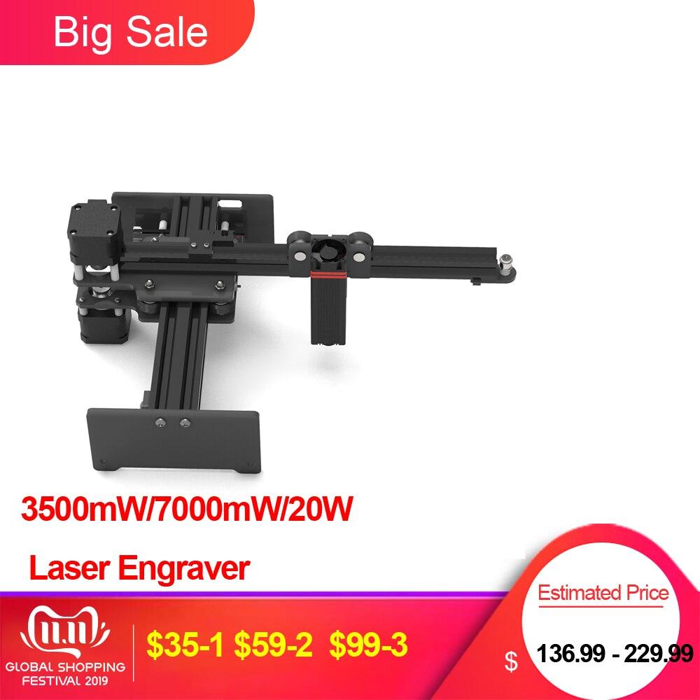 3500mW/7000mW/20W Desktop Portable  Laser Engraver DIY Laser Logo Mark Printer For Metal Engraving And Deep Wood Engraving