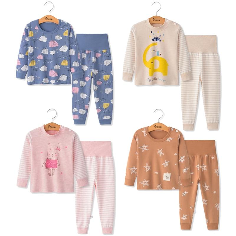 Children Pajamas 2pc Long Sleeve Cartoon Kids Sleepwear Baby Girl Clothes Sleep Suits Autumn Cotton Child Pyjamas Boy Nightwear