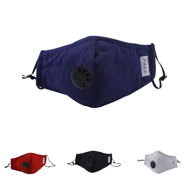 Reusable Mouth Mask Activated Carbon Fiber Face Respirator Cotton Mask 3