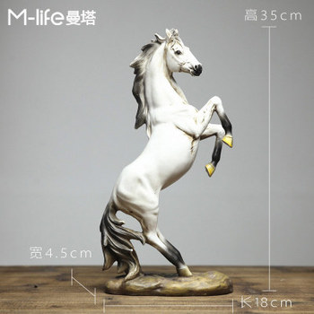 Folk Zodiac Wealth European Home Crafts Gallop Horse Statue decoration  factory Nordic bookshelf horse ornaments